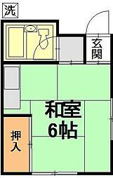 第一赤羽根荘[202号室]の間取り