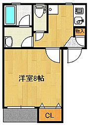 GEO女池西[103号室]の間取り
