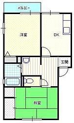 新潟県新潟市北区石動1丁目の賃貸アパートの間取り