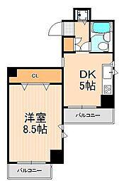三の輪シティハウス[6階]の間取り