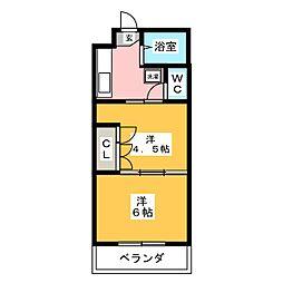 イーグルハイツ錦町[1階]の間取り