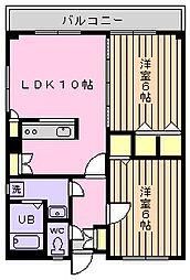 秋山マンション[607号室]の間取り
