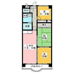 ラ・ファミール中央[4階]の間取り