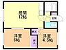 間取り,2LDK,面積43.56m2,賃料3.0万円,JR石北本線 北見駅 徒歩14分,JR石北本線 柏陽駅 4km,北海道北見市北五条西6丁目16番地1