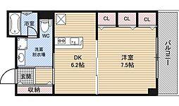 大阪府大阪市福島区玉川1丁目の賃貸マンションの間取り
