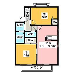 ヴァンテージ神ノ倉[2階]の間取り