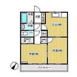 ハウスサングリ−ン[2階]の間取り