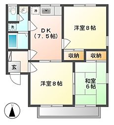 セジュール寺島 B棟[1階]の間取り