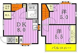 [一戸建] 千葉県松戸市古ケ崎2丁目 の賃貸【千葉県 / 松戸市】の間取り