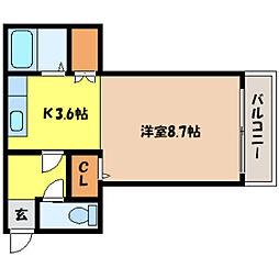 北海道札幌市北区北二十一条西5丁目の賃貸マンションの間取り