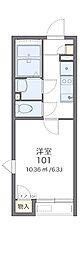 JR横浜線 相原駅 徒歩17分の賃貸アパート 2階1Kの間取り