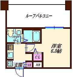 S−RESIDENCE妙蓮寺 4階1Kの間取り