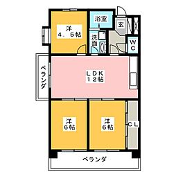 ラ・キャッスル21植田[7階]の間取り
