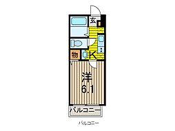 クシェル北戸田[1階]の間取り