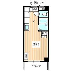 エトワール尾崎[201号室]の間取り