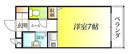 大阪府松原市高見の里3丁目の賃貸マンションの間取り