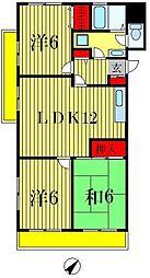 フローラル松戸[5階]の間取り