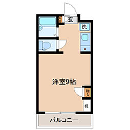 ハイツA&K[4階]の間取り