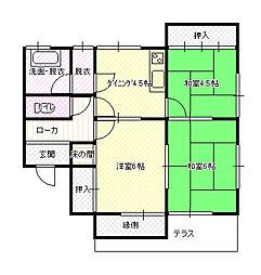 [一戸建] 茨城県水戸市吉沢町 の賃貸【茨城県 / 水戸市】の間取り