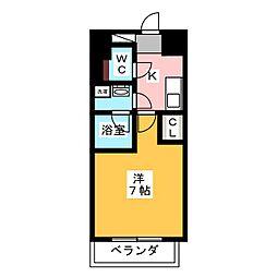 ヴィークブライト名古屋東別院 11階1Kの間取り