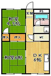 瀬田サンプラザマンション[405号室]の間取り