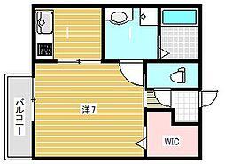 ラシーネ内本町[2階]の間取り