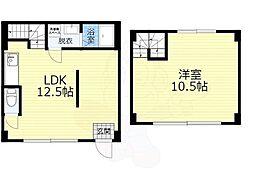 アリタマンション京橋 1階1LDKの間取り