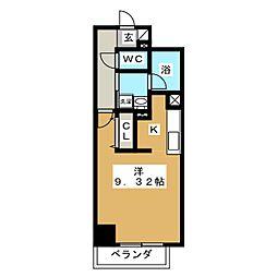 ラポール日泉[7階]の間取り