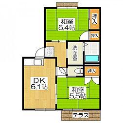 アネックス上野芝[1階]の間取り