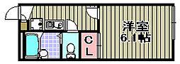 レオパレス芳山荘2[201号室]の間取り