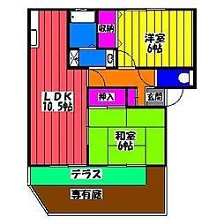 サンガーデン笹原 A棟[1階]の間取り