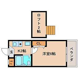奈良県奈良市学園朝日町の賃貸マンションの間取り
