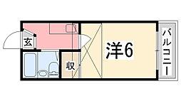 兵庫県姫路市宮西町の賃貸アパートの間取り