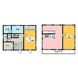 [一戸建] 愛知県名古屋市名東区藤森2丁目 の賃貸【愛知県 / 名古屋市名東区】の間取り