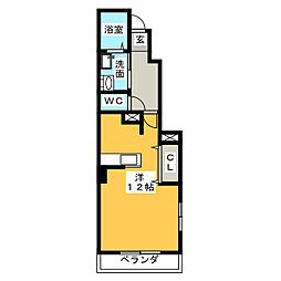 愛知県名古屋市西区比良4丁目の賃貸アパートの間取り