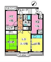 ローヤルマンション筑紫丘[305号室]の間取り