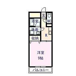 クライミングマンション203[203号室]の間取り