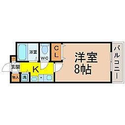 愛知県名古屋市中村区千成通1丁目の賃貸マンションの間取り