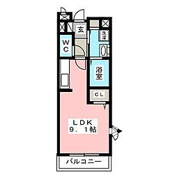 ハーモニーI・II・III[1階]の間取り