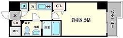 レジュールアッシュ難波MINAMI III[14階]の間取り