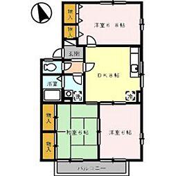 ビューテラス大町 A棟[2階]の間取り