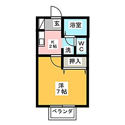 ホーリー秋津[2階]の間取り