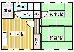 愛知県名古屋市中川区水里2丁目の賃貸マンションの間取り