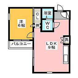 RX新守山[2階]の間取り