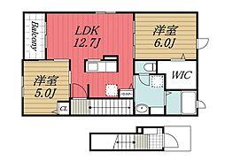 千葉県香取市佐原ホの賃貸アパートの間取り