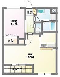 愛知県名古屋市名東区大針1丁目の賃貸マンションの間取り