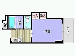 シャルマンフジ東岸和田弐番館[303号室]の間取り