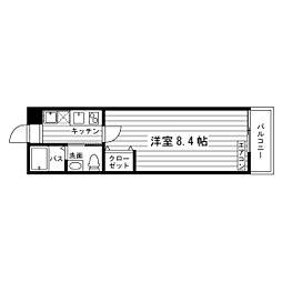 松屋学生マンション[303号室]の間取り