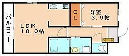 エイトハウス下三緒[1階]の間取り