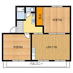 静岡県静岡市葵区新伝馬1丁目の賃貸マンションの間取り